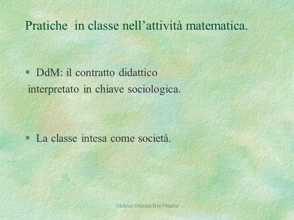 Meloni Gianna Irre Veneto Pratiche in classe nellattività matematica.