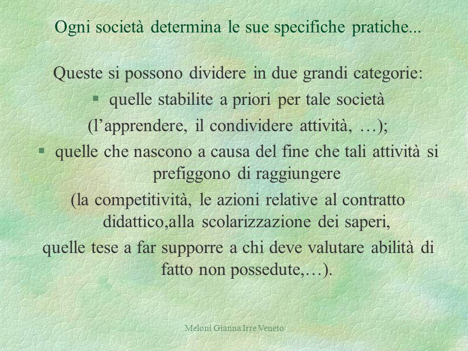 Meloni Gianna Irre Veneto Ogni società determina le sue specifiche pratiche...