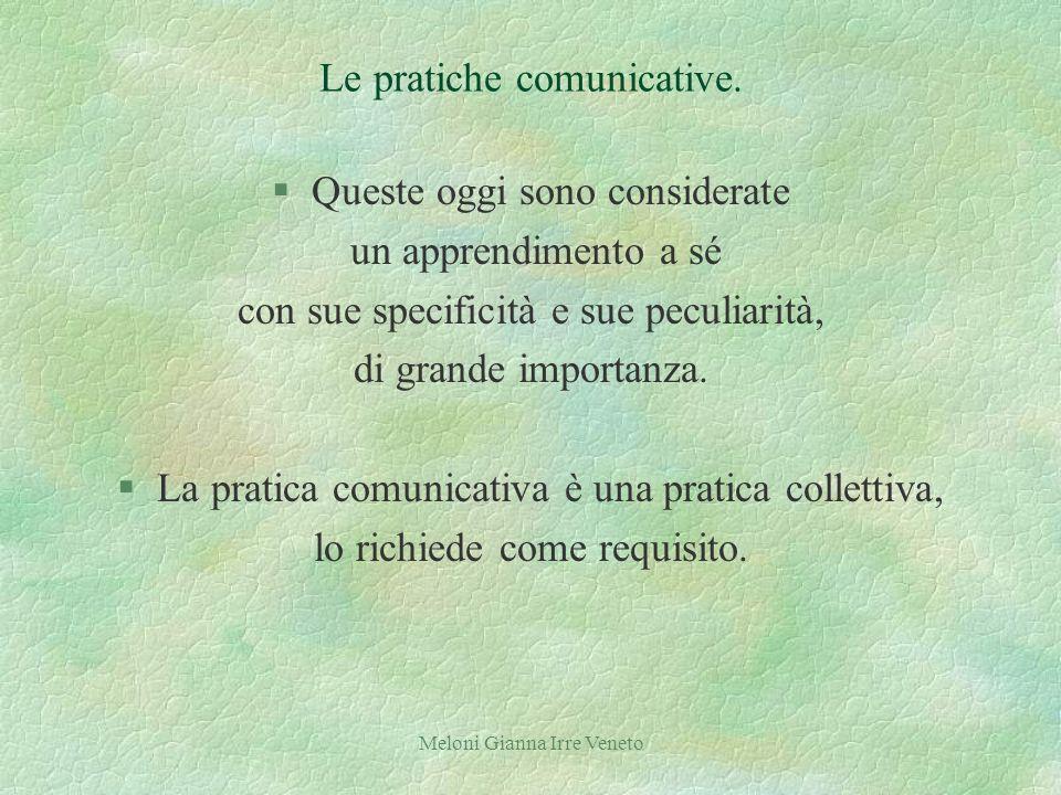 Meloni Gianna Irre Veneto Le pratiche comunicative.
