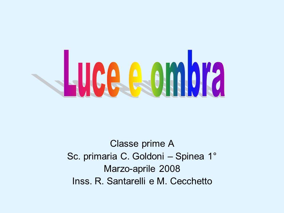 Classe prime A Sc. primaria C. Goldoni – Spinea 1° Marzo-aprile 2008 Inss. R. Santarelli e M. Cecchetto