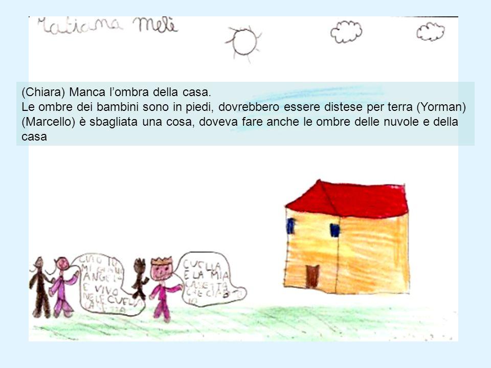 (Chiara) Manca lombra della casa. Le ombre dei bambini sono in piedi, dovrebbero essere distese per terra (Yorman) (Marcello) è sbagliata una cosa, do