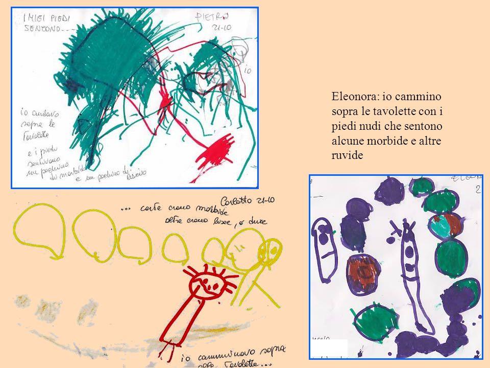 Eleonora: io cammino sopra le tavolette con i piedi nudi che sentono alcune morbide e altre ruvide