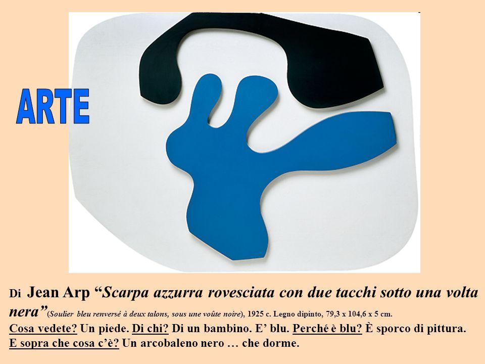 Di Jean Arp Scarpa azzurra rovesciata con due tacchi sotto una volta nera (Soulier bleu renversé à deux talons, sous une voûte noire), 1925 c.