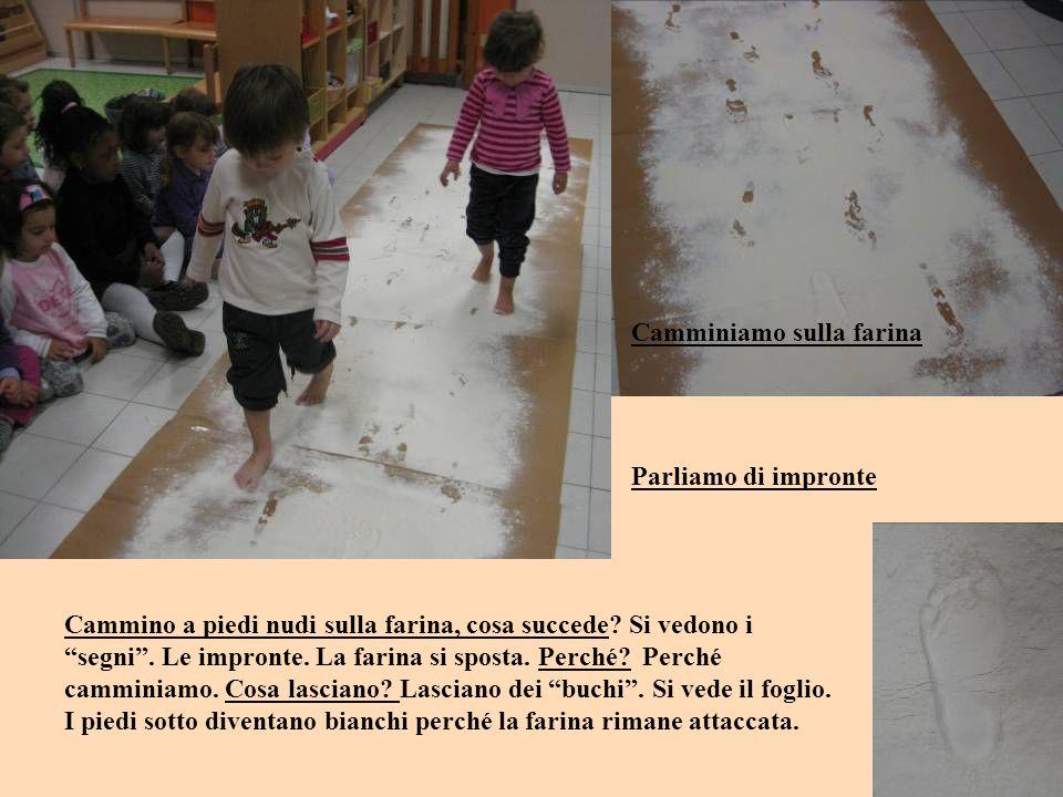 Cantiamo una canzone … Cosa fanno i miei piedini… ogni bambino è invitato a dire una cosa che può fare con i piedi: Davide: salutano.