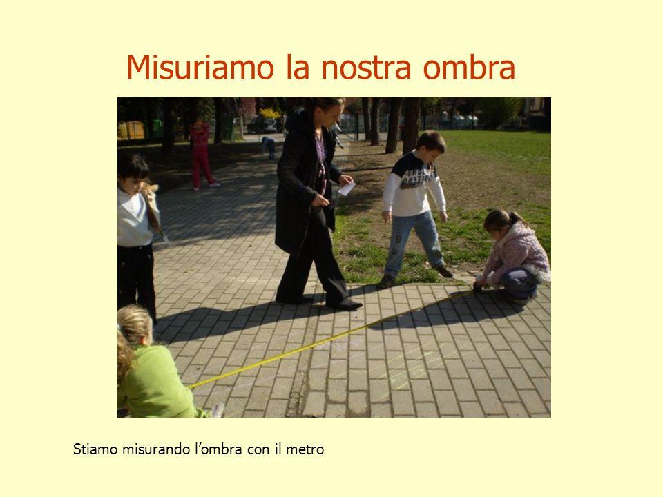 Misuriamo la nostra ombra Stiamo misurando lombra con il metro