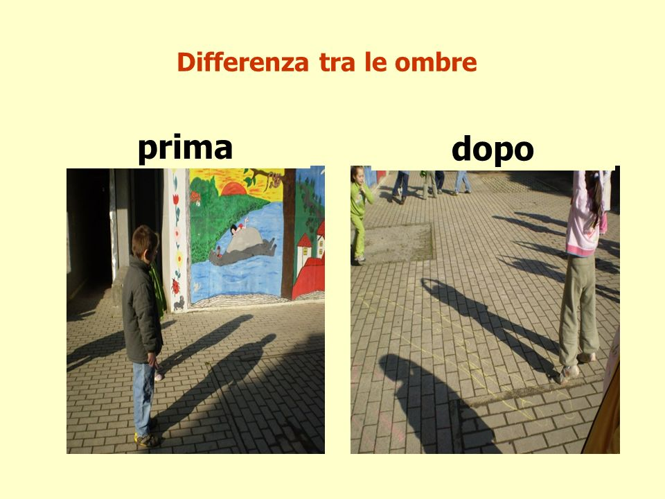 Differenza tra le ombre prima dopo