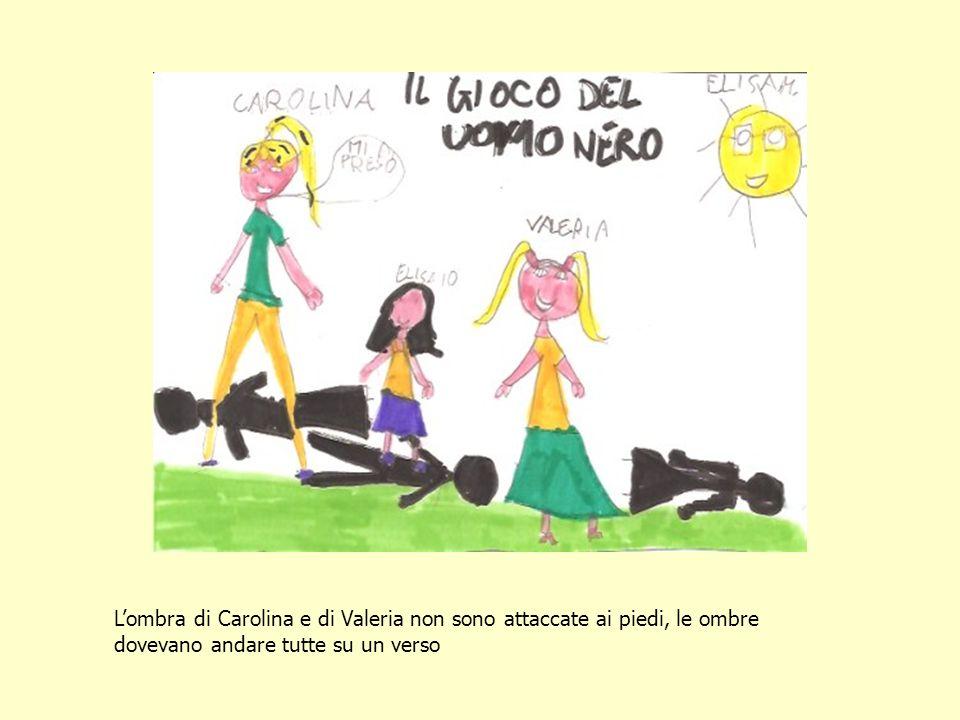Lombra di Carolina e di Valeria non sono attaccate ai piedi, le ombre dovevano andare tutte su un verso