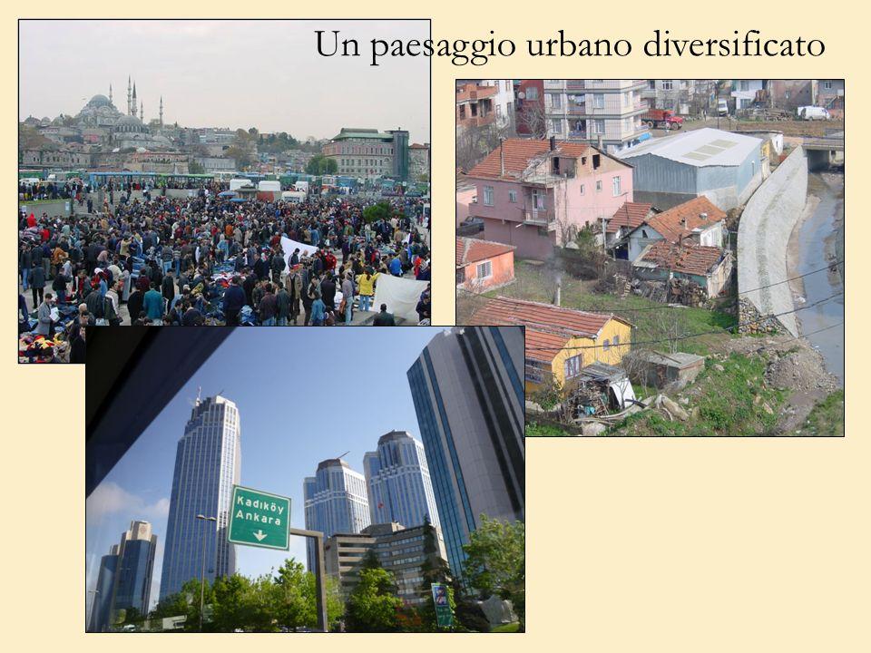 Un paesaggio urbano diversificato