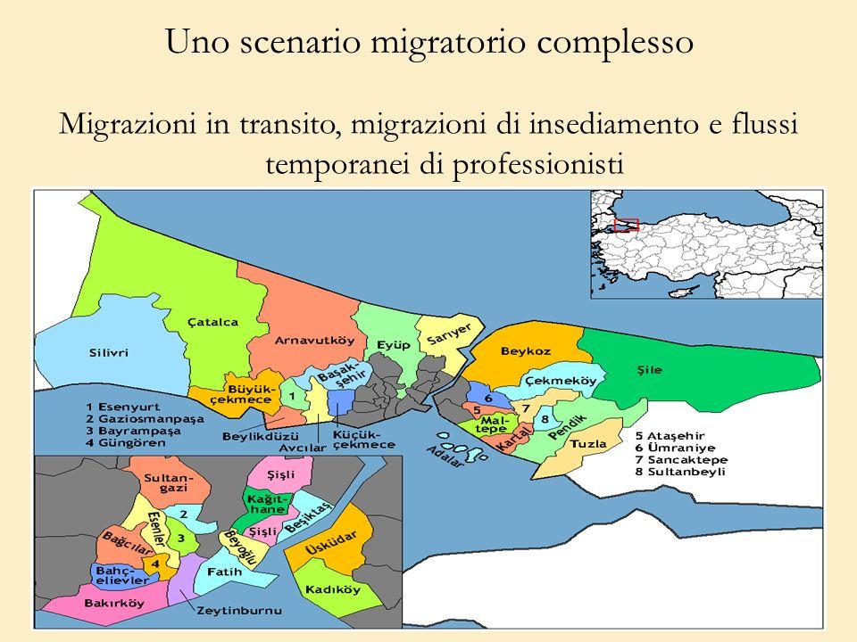 Uno scenario migratorio complesso Migrazioni in transito, migrazioni di insediamento e flussi temporanei di professionisti