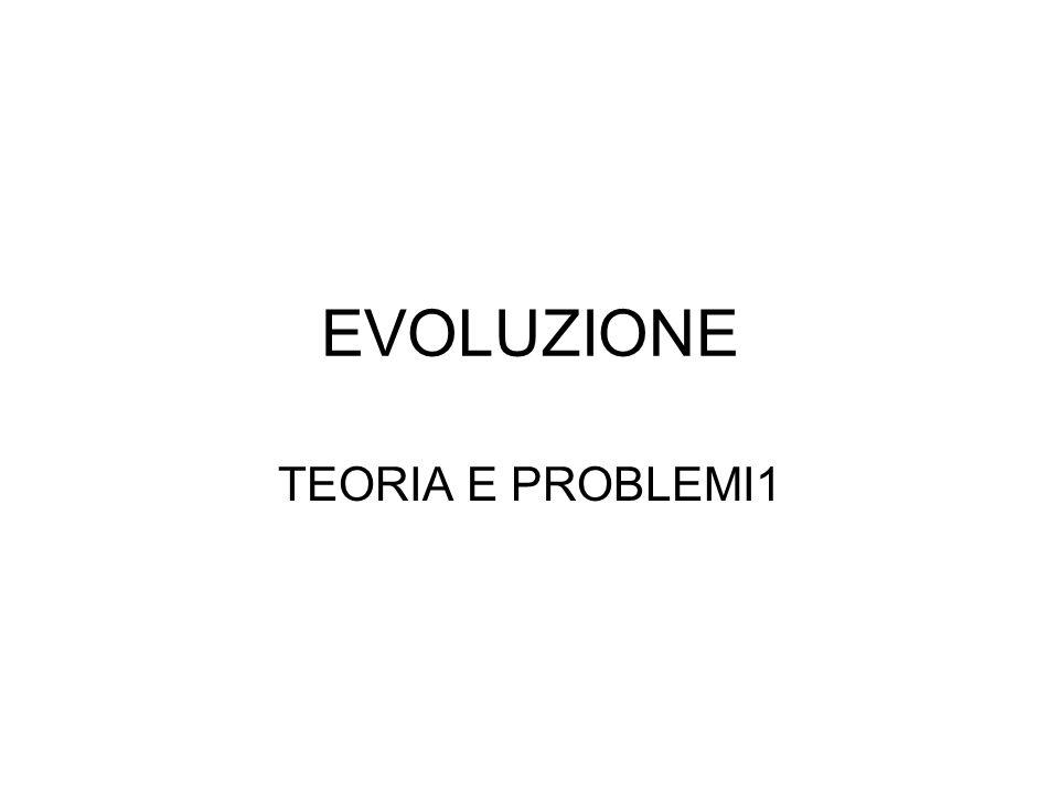 EVOLUZIONE TEORIA E PROBLEMI1