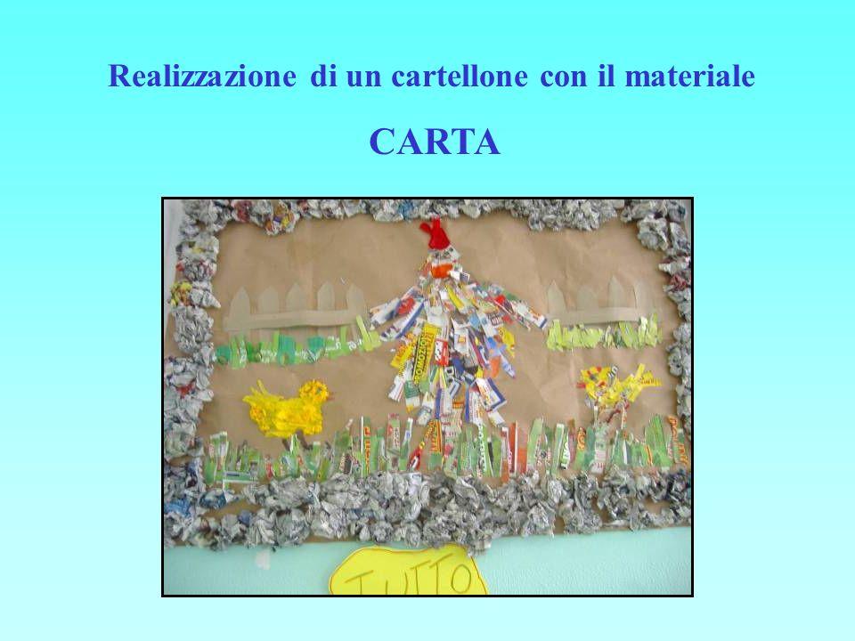 Realizzazione di un cartellone con il materiale CARTA