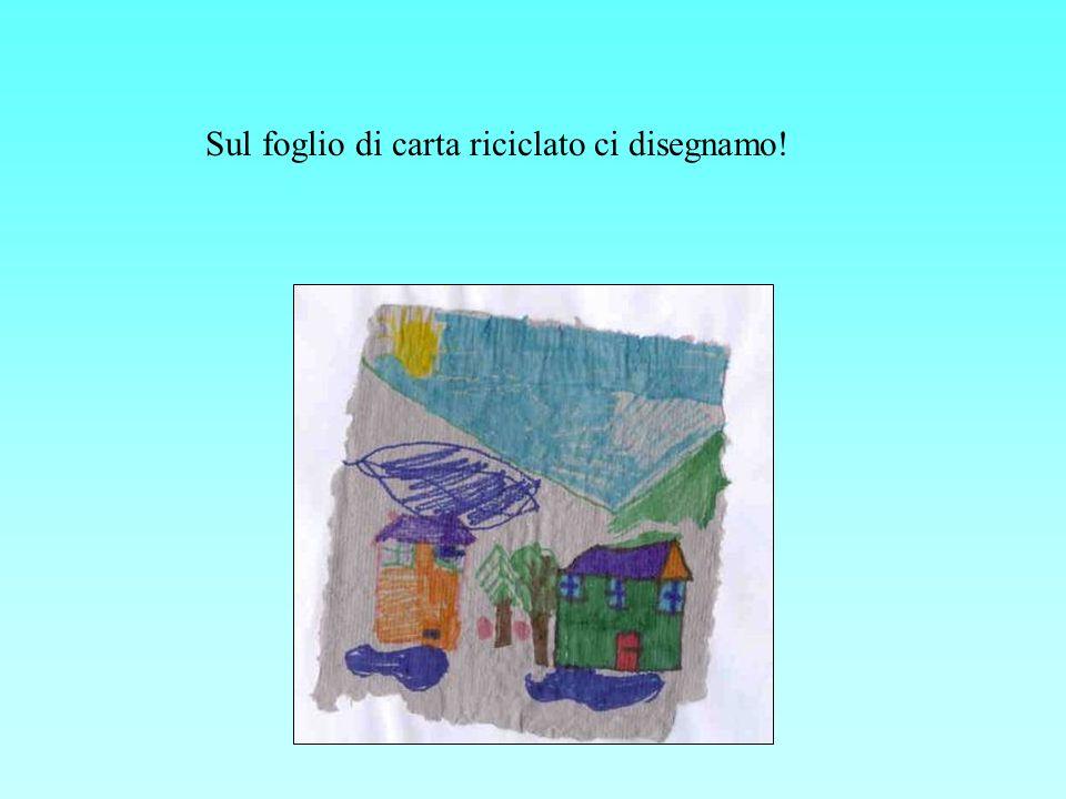 Sul foglio di carta riciclato ci disegnamo!