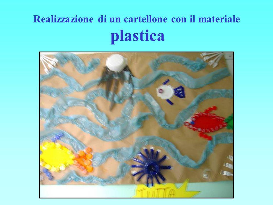 Realizzazione di un cartellone con il materiale plastica