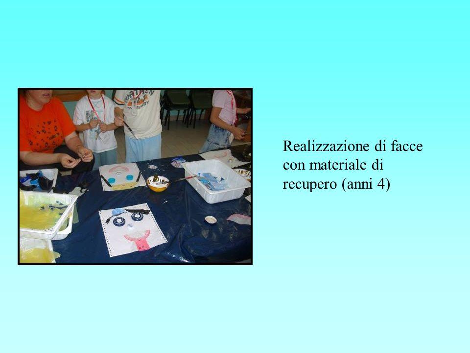 Realizzazione di facce con materiale di recupero (anni 4)