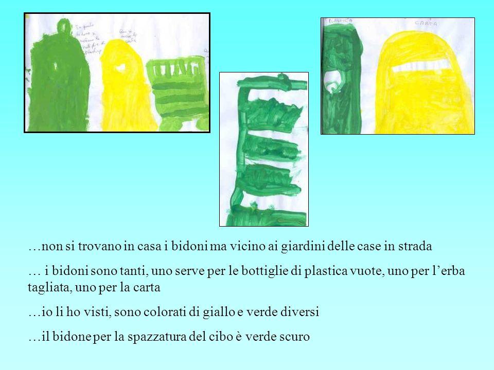 …noi abbiamo giocato con la carta e la plastica e labbiamo messa nei bidoni giusti …abbiamo fatto un gioco dove dobbiamo mettere la carta e i cartoni sul bidone e le bottiglie su quello verde … il gioco era bello.