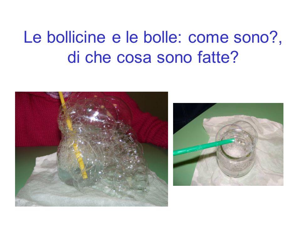 Le bollicine e le bolle: come sono?, di che cosa sono fatte?