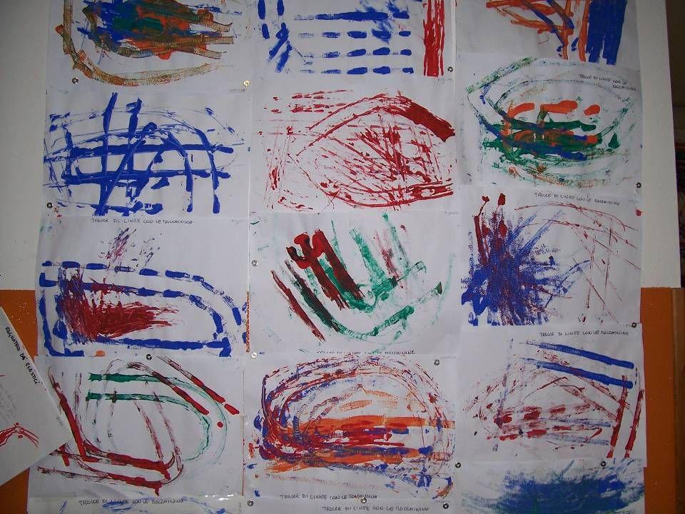 Diamo ai bambini dei cartoncini dove le linee formano forme informali…..