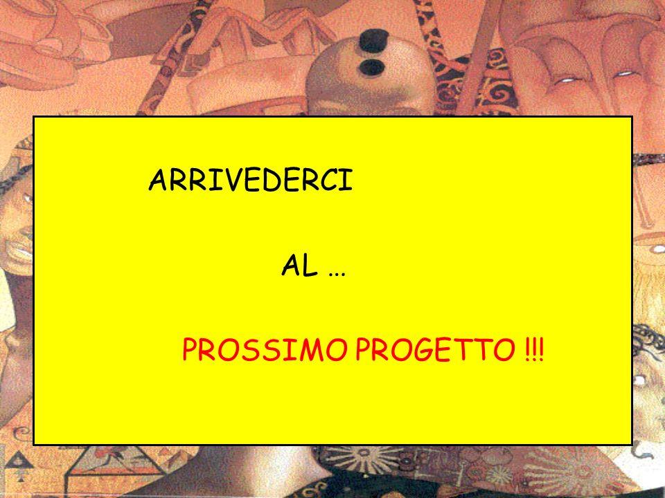 ARRIVEDERCI AL … PROSSIMO PROGETTO !!!