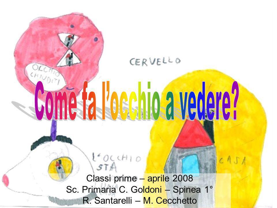 Classi prime – aprile 2008 Sc. Primaria C. Goldoni – Spinea 1° R. Santarelli – M. Cecchetto