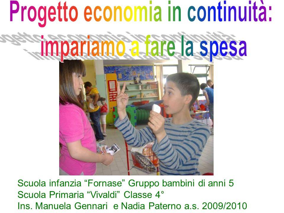 Scuola infanzia Fornase Gruppo bambini di anni 5 Scuola Primaria Vivaldi Classe 4° Ins. Manuela Gennari e Nadia Paterno a.s. 2009/2010