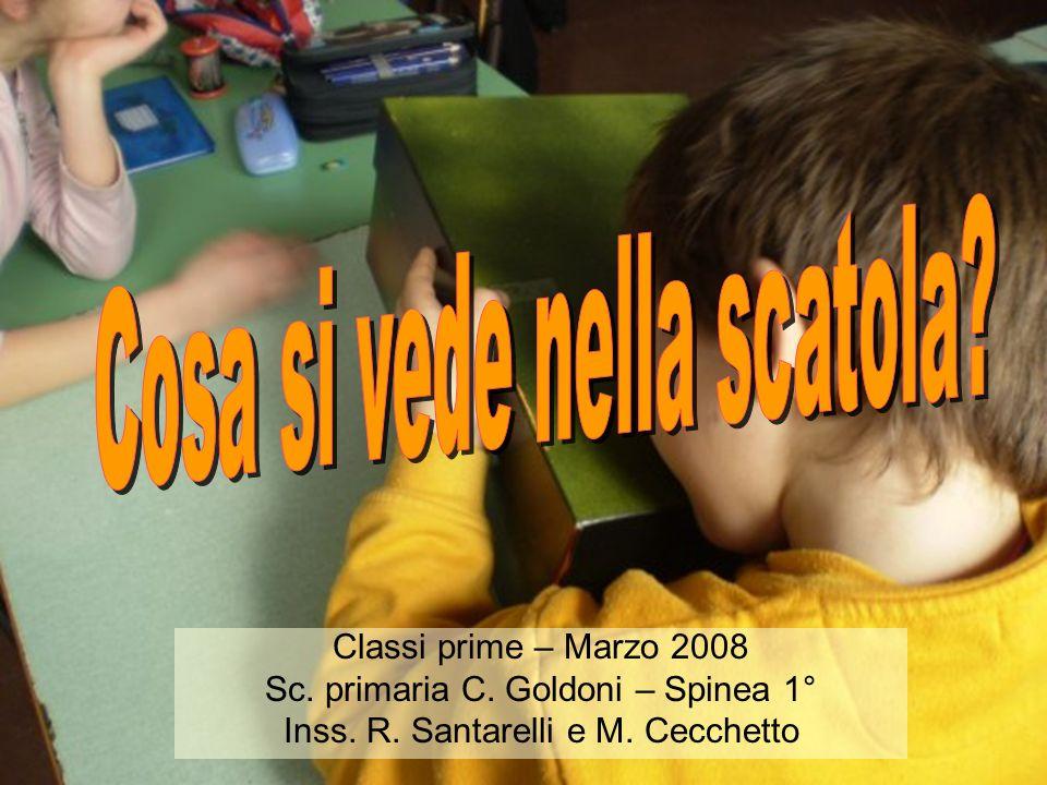 Classi prime – Marzo 2008 Sc. primaria C. Goldoni – Spinea 1° Inss. R. Santarelli e M. Cecchetto
