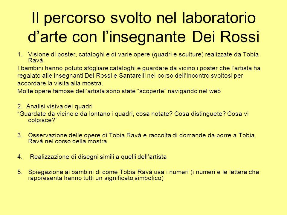 Il percorso svolto nel laboratorio darte con linsegnante Dei Rossi 1.Visione di poster, cataloghi e di varie opere (quadri e sculture) realizzate da T