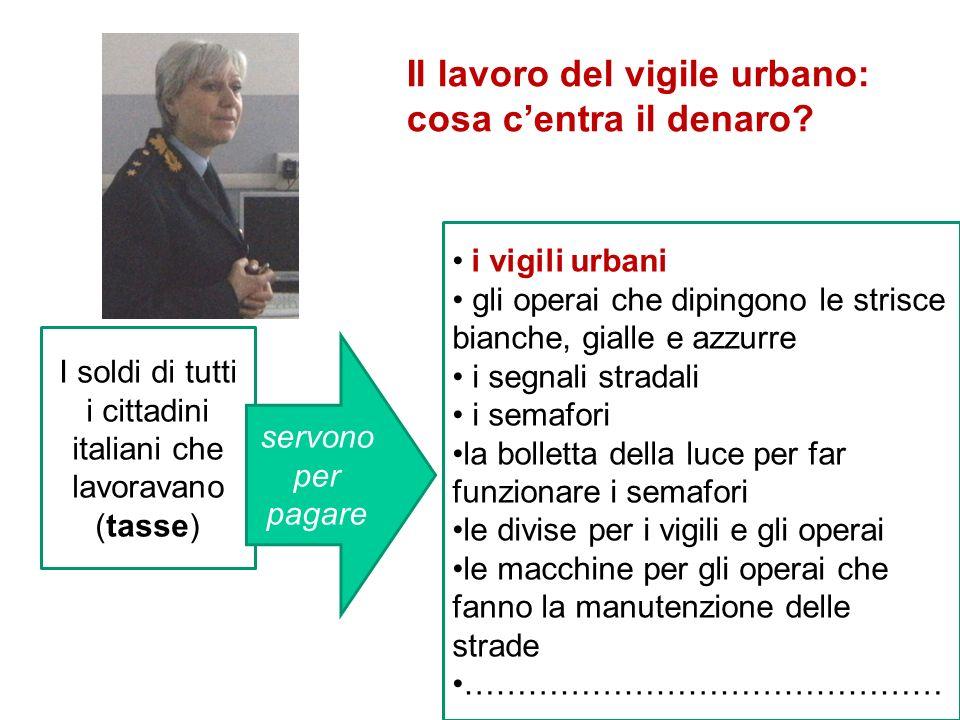I soldi di tutti i cittadini italiani che lavoravano (tasse) i vigili urbani gli operai che dipingono le strisce bianche, gialle e azzurre i segnali s