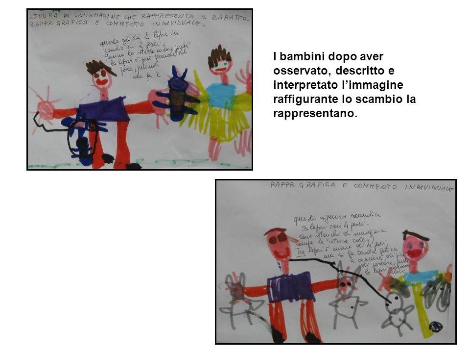 I bambini dopo aver osservato, descritto e interpretato limmagine raffigurante lo scambio la rappresentano.