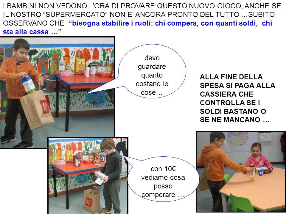 CONSIDERAZIONI FINALI I bambini si sono divertiti a gestire il gioco della compravendita e hanno saputo rispettare le regole in modo contestualizzato (tranne qualche piccola eccezione).