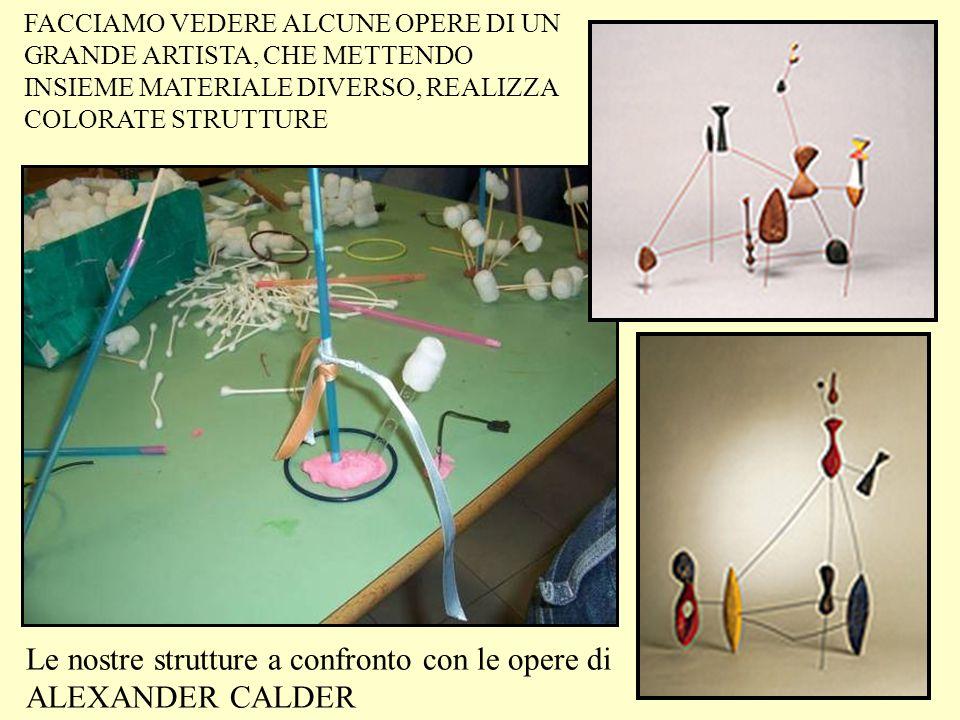 Le nostre strutture a confronto con le opere di ALEXANDER CALDER FACCIAMO VEDERE ALCUNE OPERE DI UN GRANDE ARTISTA, CHE METTENDO INSIEME MATERIALE DIV