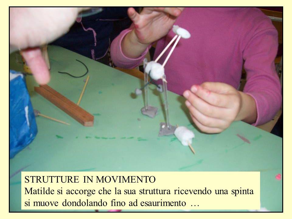 STRUTTURE IN MOVIMENTO Matilde si accorge che la sua struttura ricevendo una spinta si muove dondolando fino ad esaurimento …