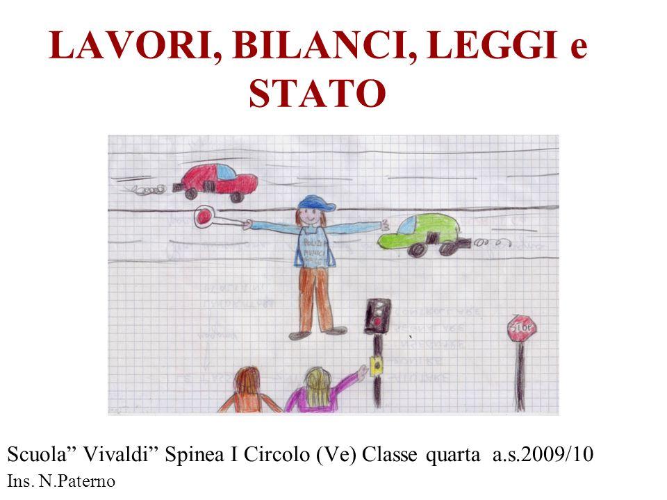 LAVORI, BILANCI, LEGGI e STATO Scuola Vivaldi Spinea I Circolo (Ve) Classe quarta a.s.2009/10 Ins. N.Paterno