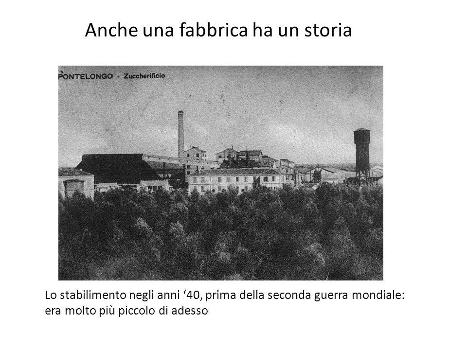 Anche una fabbrica ha un storia Lo stabilimento negli anni 40, prima della seconda guerra mondiale: era molto più piccolo di adesso