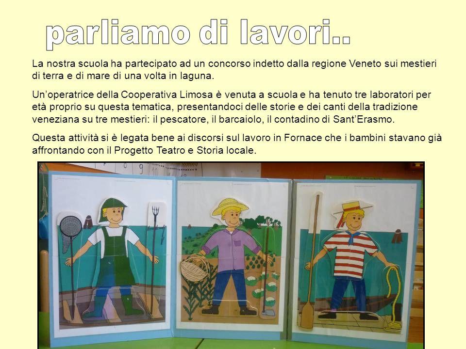 La nostra scuola ha partecipato ad un concorso indetto dalla regione Veneto sui mestieri di terra e di mare di una volta in laguna. Unoperatrice della