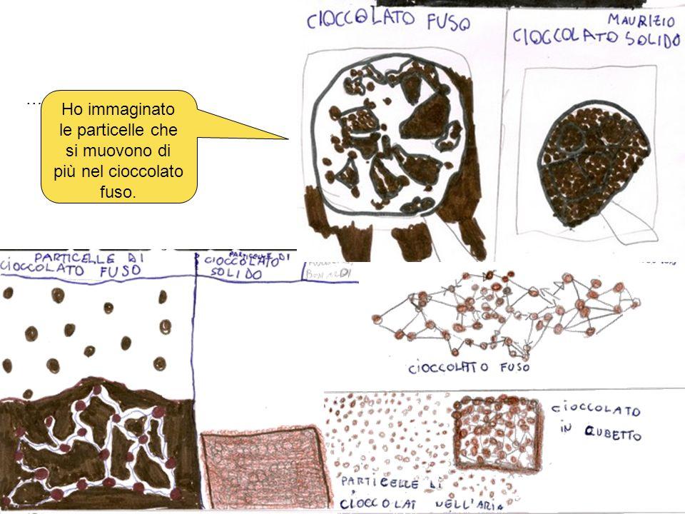 … Ho immaginato le particelle che si muovono di più nel cioccolato fuso.