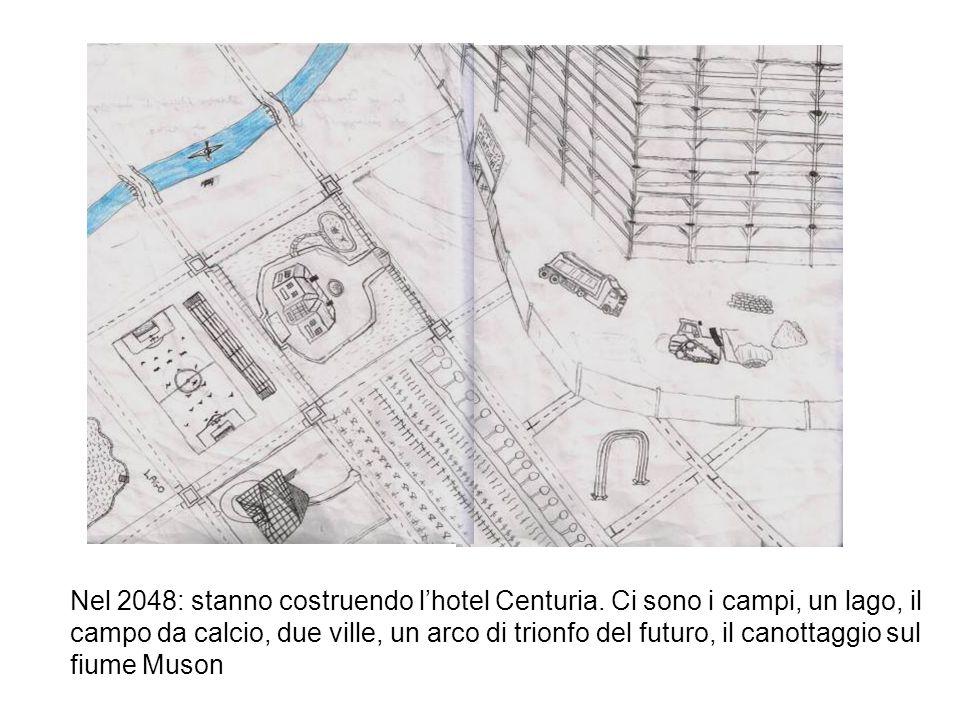 Nel 2048: stanno costruendo lhotel Centuria. Ci sono i campi, un lago, il campo da calcio, due ville, un arco di trionfo del futuro, il canottaggio su