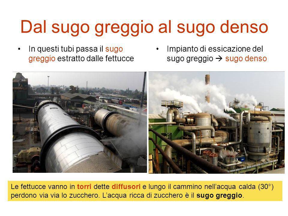Dal sugo greggio al sugo denso In questi tubi passa il sugo greggio estratto dalle fettucce Impianto di essicazione del sugo greggio sugo denso Le fet