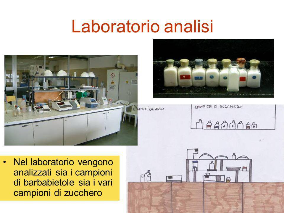 Laboratorio analisi Nel laboratorio vengono analizzati sia i campioni di barbabietole sia i vari campioni di zucchero