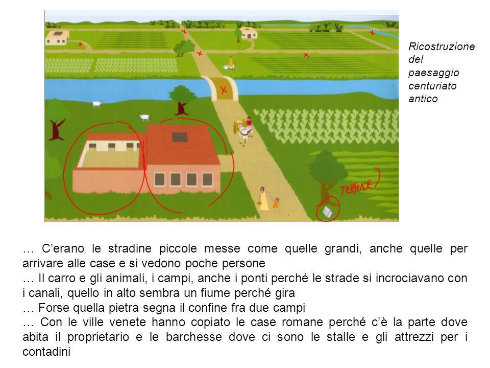 … Cerano le stradine piccole messe come quelle grandi, anche quelle per arrivare alle case e si vedono poche persone … Il carro e gli animali, i campi