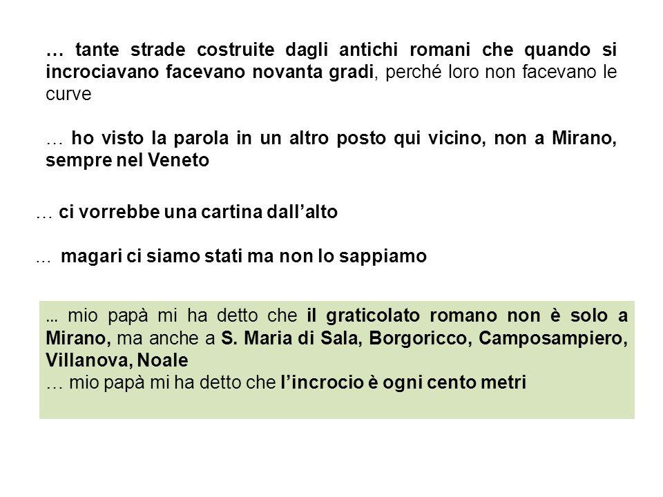Ma se questo graticolato è una cosa fatta dai Romani ed è qui nel Veneto, che età può avere.