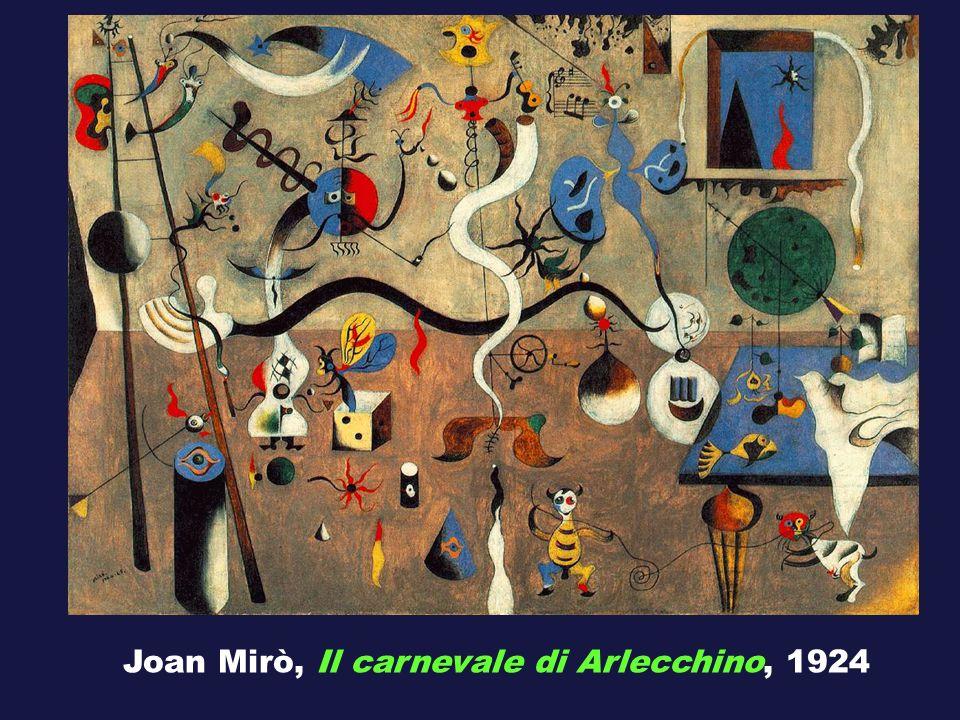 Joan Mirò, Il carnevale di Arlecchino, 1924