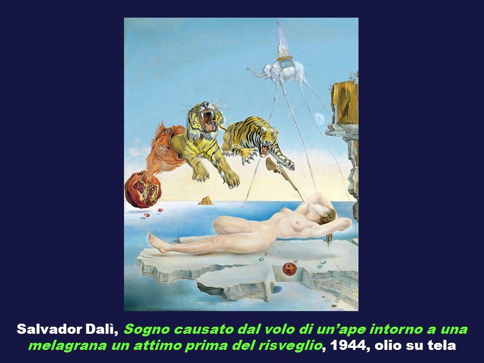 Salvador Dalì, Sogno causato dal volo di unape intorno a una melagrana un attimo prima del risveglio, 1944, olio su tela