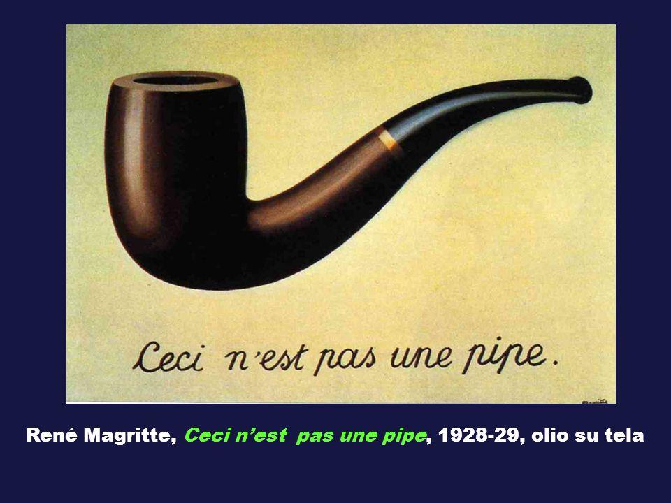 René Magritte, Ceci nest pas une pipe, 1928-29, olio su tela