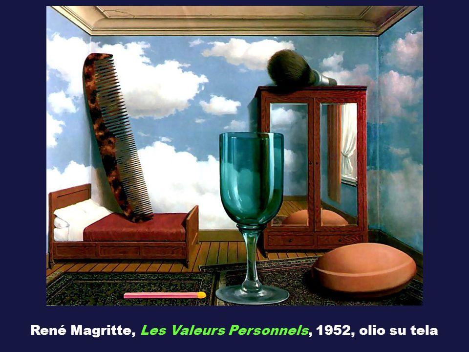 René Magritte, Les Valeurs Personnels, 1952, olio su tela