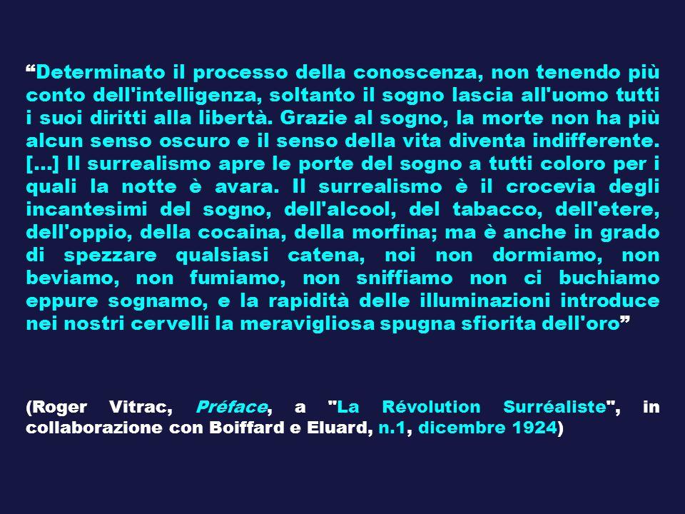 Determinato il processo della conoscenza, non tenendo più conto dell'intelligenza, soltanto il sogno lascia all'uomo tutti i suoi diritti alla libertà