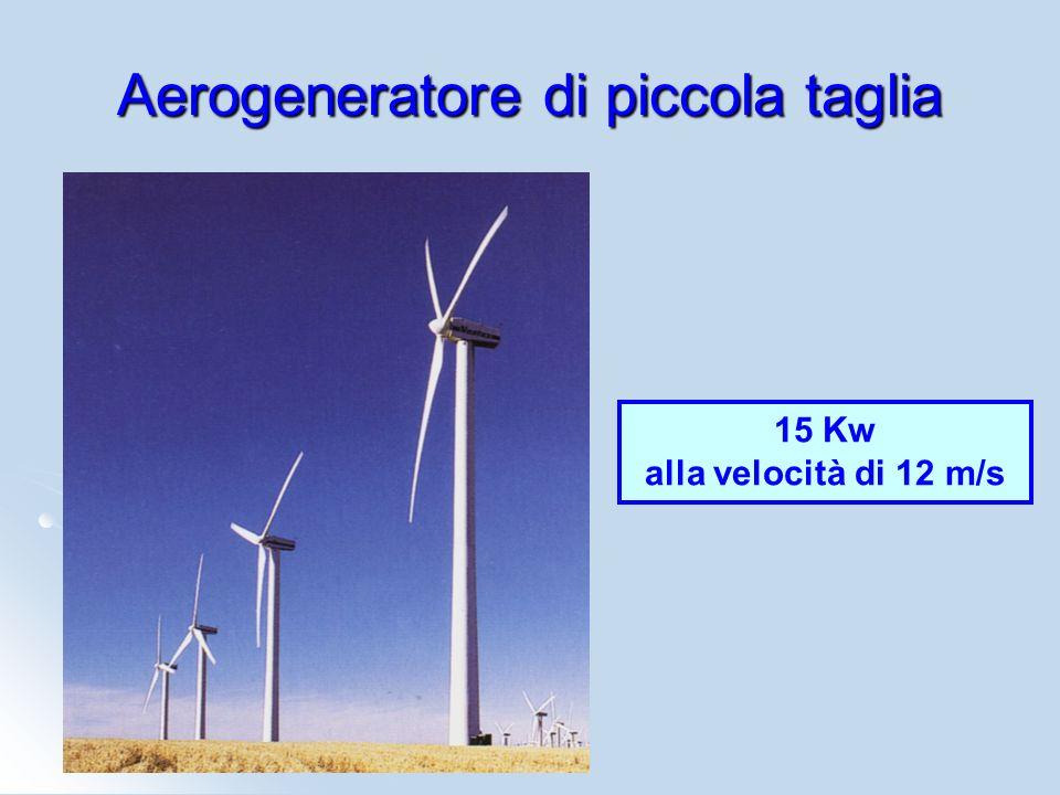 Aerogeneratore di piccola taglia 15 Kw alla velocità di 12 m/s