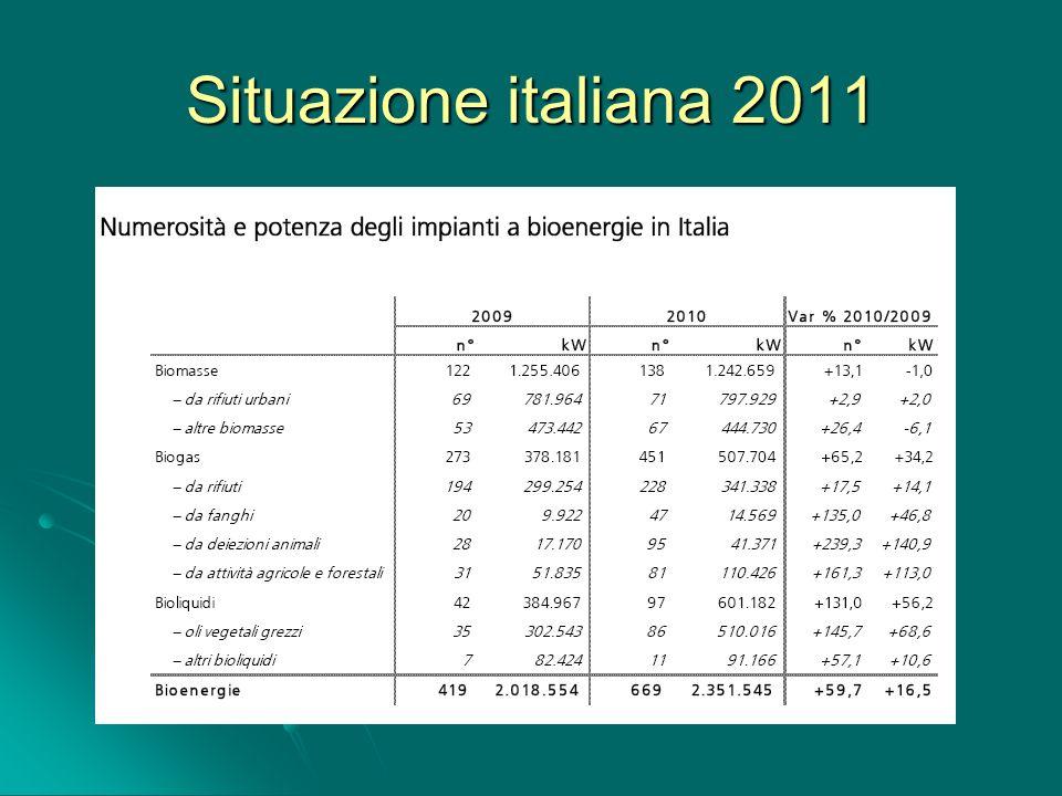 Situazione italiana 2011