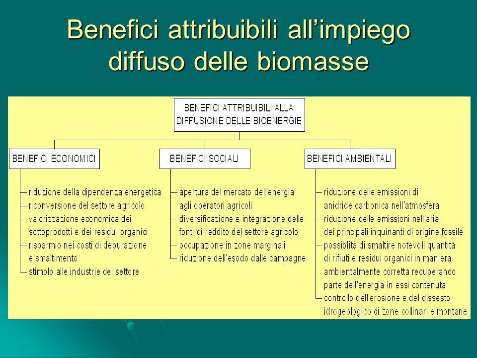 Benefici attribuibili allimpiego diffuso delle biomasse