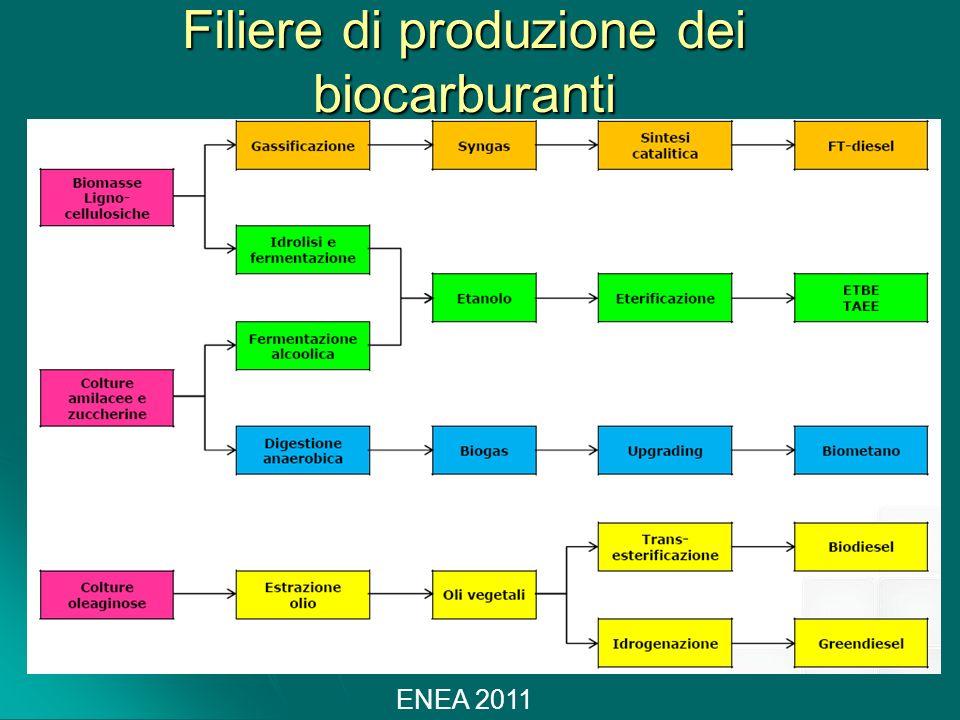 Filiere di produzione dei biocarburanti ENEA 2011