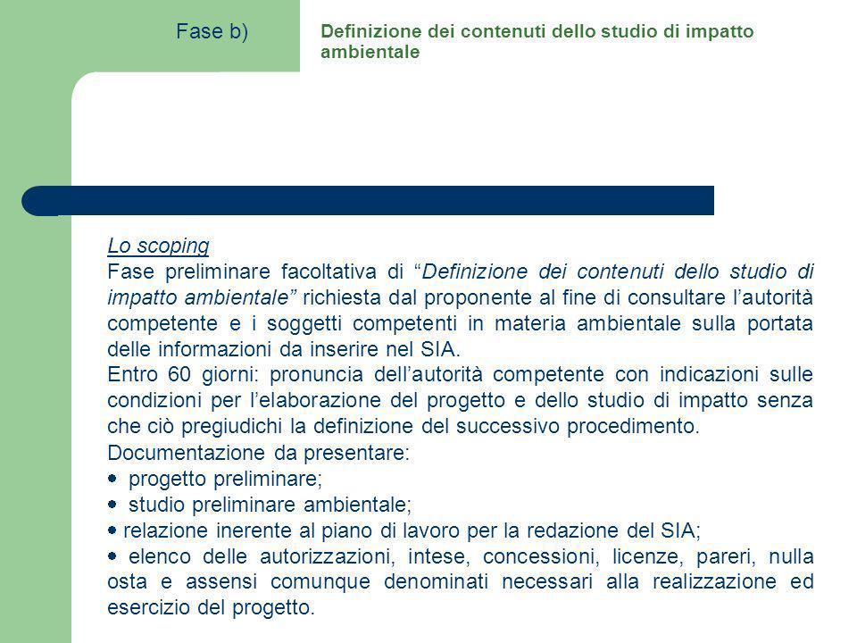 Lo scoping Fase preliminare facoltativa di Definizione dei contenuti dello studio di impatto ambientale richiesta dal proponente al fine di consultare